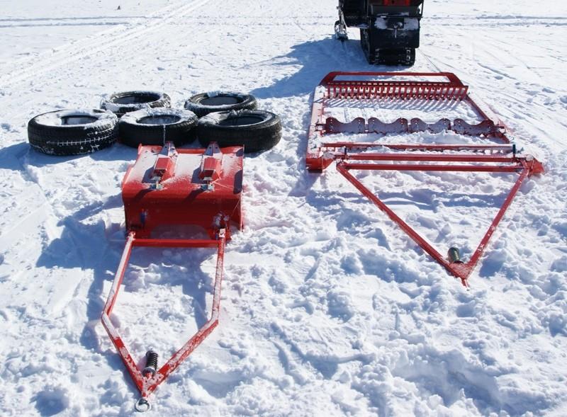 Прокладчик лыжни, резак для прокладки классической лыжни